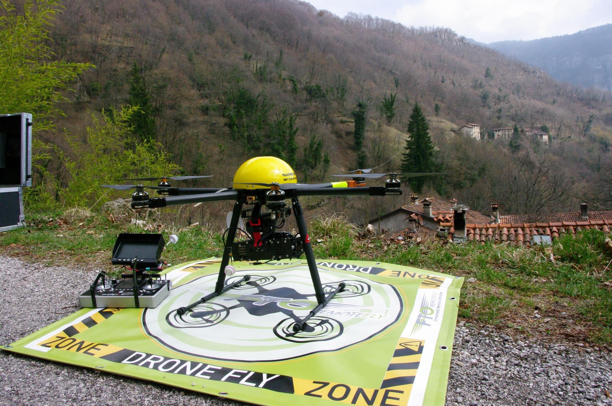 Escursione a Rio Freddo per rilevare, con l'uso del drone, i terrazzamenti abbandonati