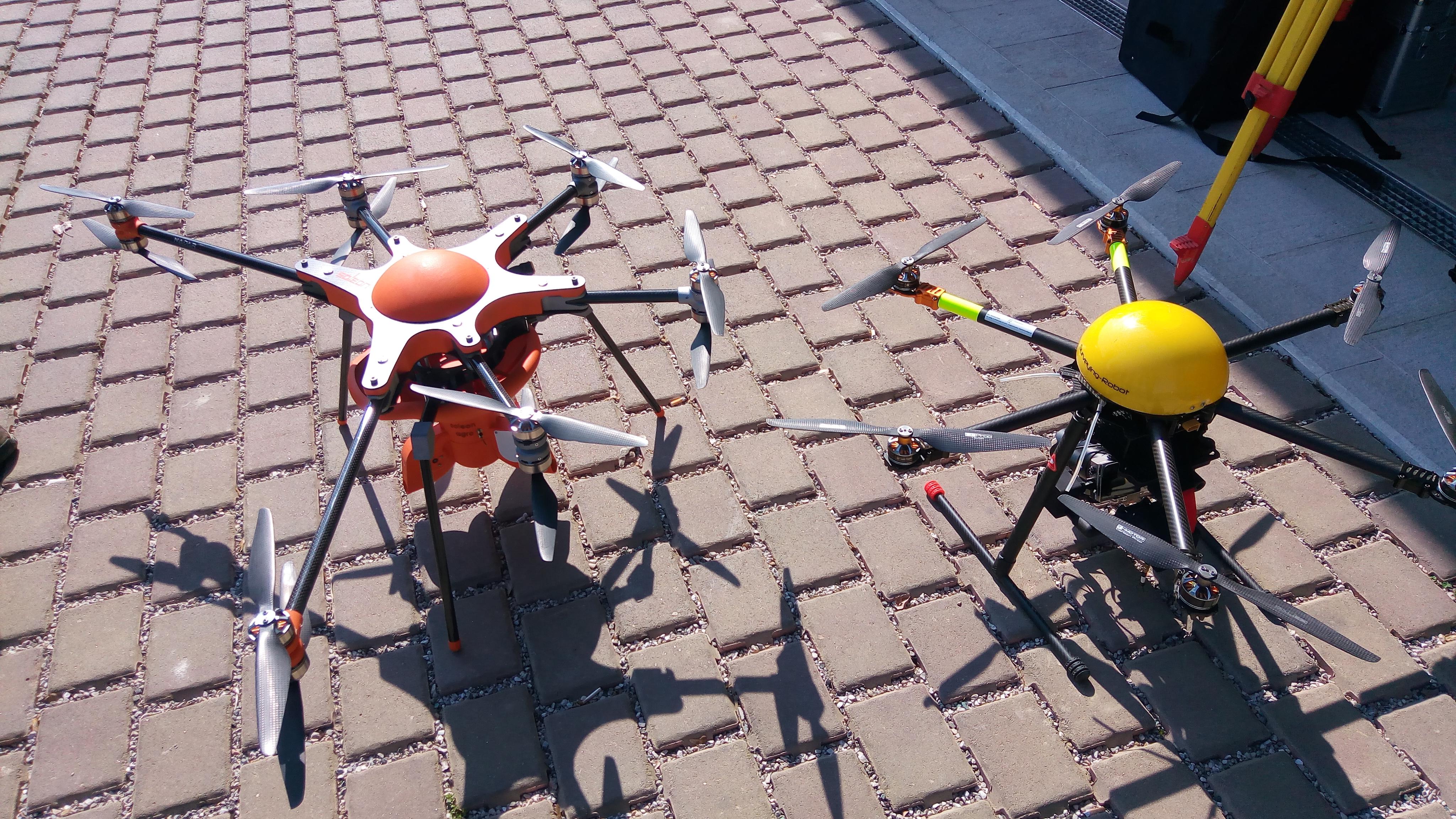 Flotta droni per l'escursione ad Asolo