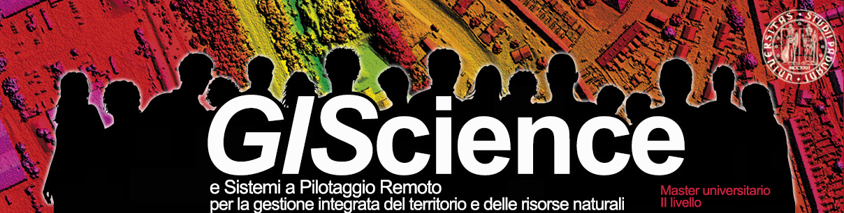 Master GIS Science e droni