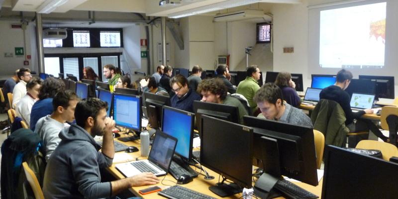Lezione in aula informatica