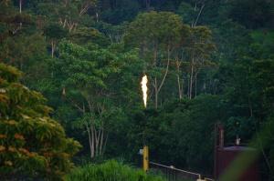"""Gas flaring in Amazzonia ecuadoriana.  Fieldwork  2018 """"Territori delle diversità ecologiche e culturali"""""""